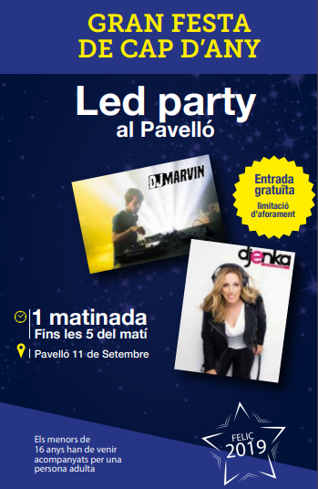 Cartell LED PARTY fi d'any