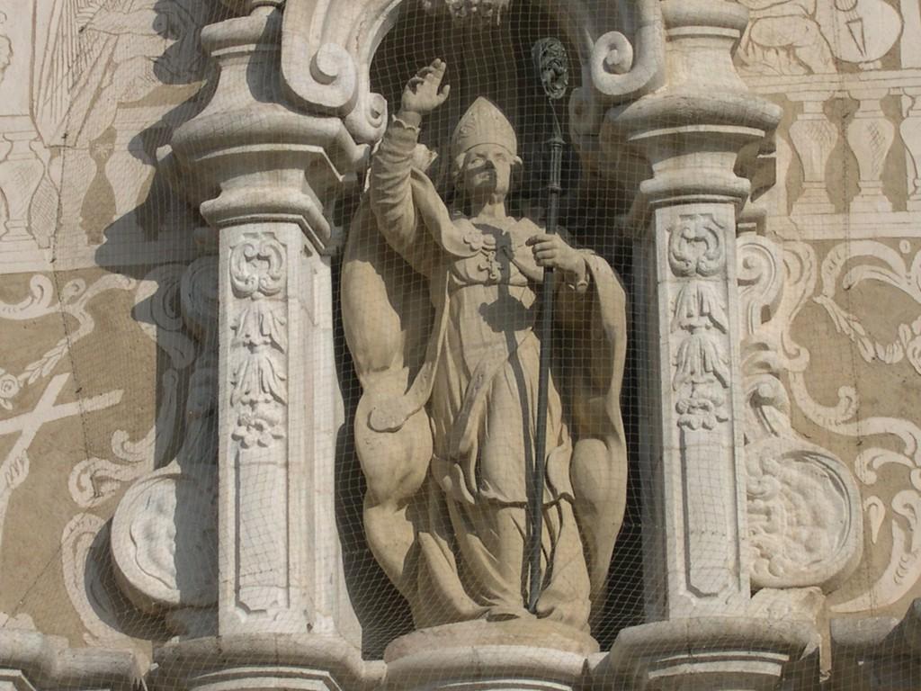 Escultura de Sant Mart� - esgl�sia parroquial de Sant Mart�